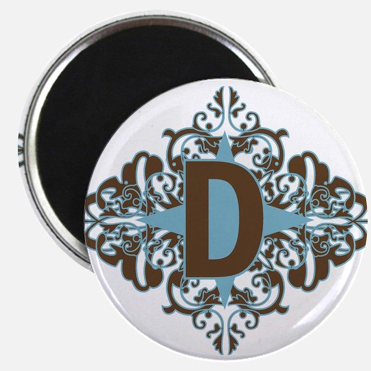 "D Monogram Letter D 2.25"" Magnet (100 pack)"