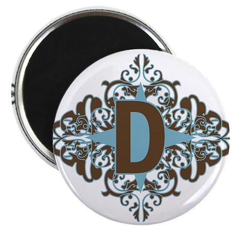 "D Monogram Letter D 2.25"" Magnet (10 pack)"