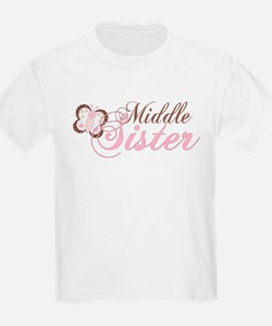 Pink Butterfly Middle Sister T-Shirt
