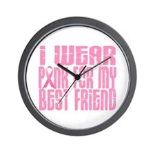 I Wear Pink For My Best Friend 16 Wall Clock