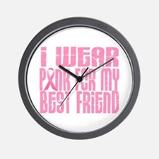 I Wear Pink For My Best Friend 16 Wall Clock