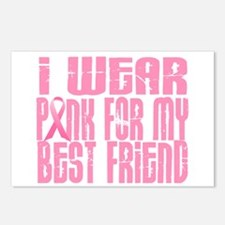 I Wear Pink For My Best Friend 16 Postcards (Packa