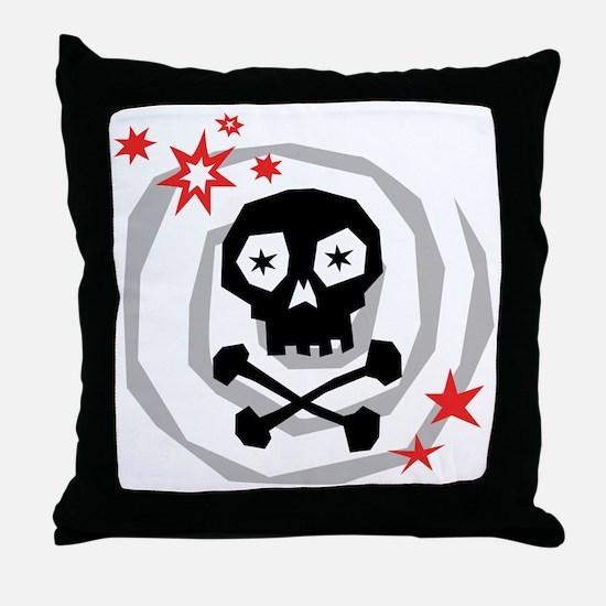 Spiral Skull Throw Pillow