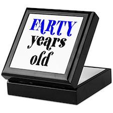 Farty Years Old Keepsake Box