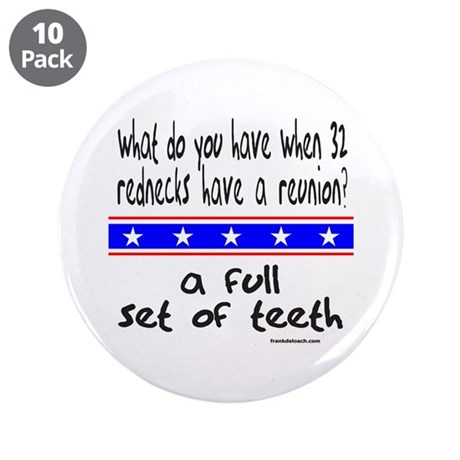 "REDNECK REUNION 3.5"" Button (10 pack)"
