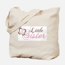 Pink Butterfly Little Sister Tote Bag