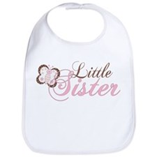 Pink Butterfly Little Sister Bib