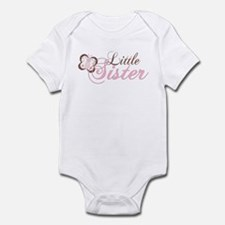 Pink Butterfly Little Sister Infant Bodysuit