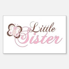 Pink Butterfly Little Sister Rectangle Decal