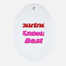 Courtney Knows Best Oval Ornament