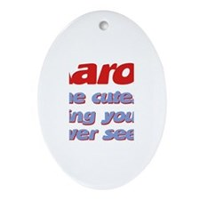 Aaron - The Cutest Ever Oval Ornament