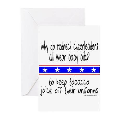 REDNECK CHEERLEADERS Greeting Cards (Pk of 10)