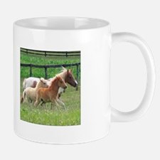 Three Mini Horses Running Mug