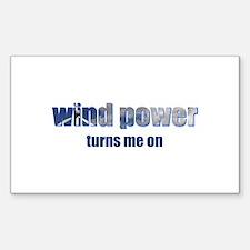 Wind Power Rectangle Sticker 10 pk)