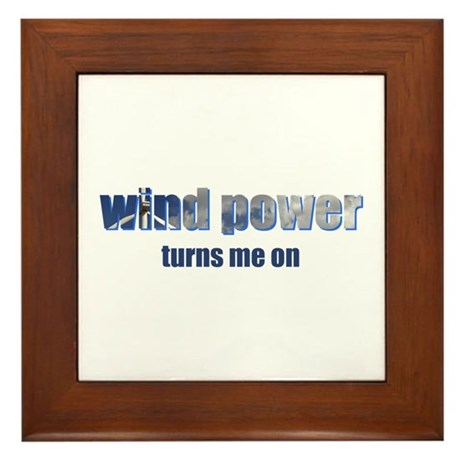 Wind Power Framed Tile