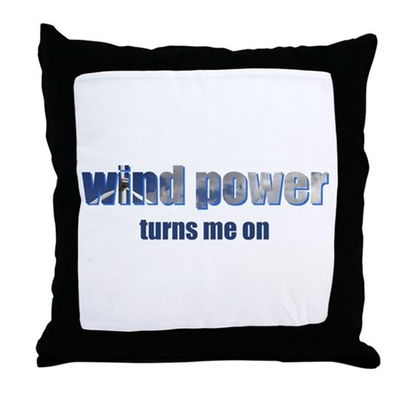 Wind Power Throw Pillow