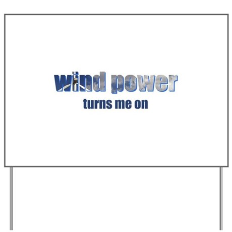 Wind Power Yard Sign