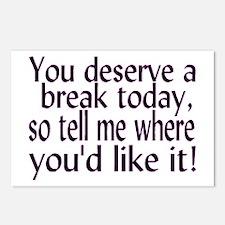 Deserve A Break Postcards (Package of 8)