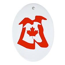 CANADIAN GREYHOUND KEEPSAKE ORNAMENT