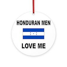 Honduran Men Love Me Ornament (Round)