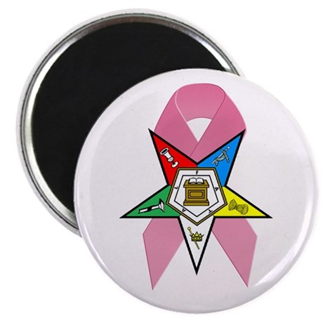 """OES Breast Cancer Awareness 2.25"""" Magnet (10 pack)"""