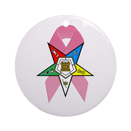 OES Breast Cancer Awareness Ornament (Round)