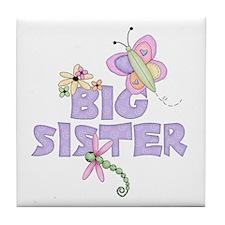 Cute Bugs Big Sister Tile Coaster