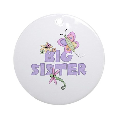 Cute Bugs Big Sister Ornament (Round)
