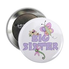 "Cute Bugs Big Sister 2.25"" Button"