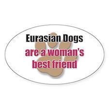 Eurasian Dogs woman's best friend Oval Decal