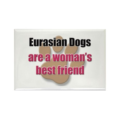 Eurasian Dogs woman's best friend Rectangle Magnet