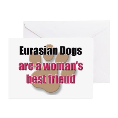 Eurasian Dogs woman's best friend Greeting Cards (