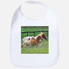 Three Mini Horses Running Bib