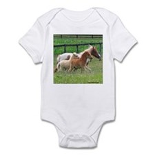 Three Mini Horses Running Infant Creeper