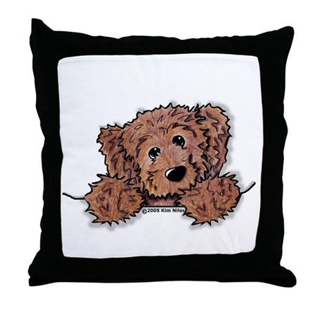Choc. Doodle Pocket Pup Throw Pillow