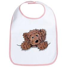 Choc. Doodle Pocket Pup Bib