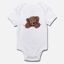 Choc. Doodle Pocket Pup Infant Creeper