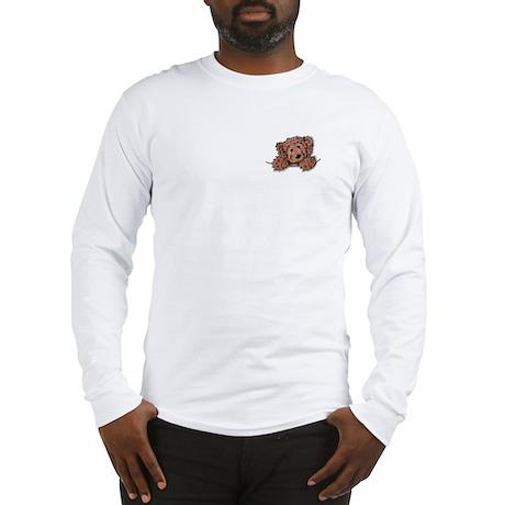Choc. Doodle Pocket Pup Long Sleeve T-Shirt
