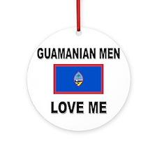 Guamanian Men Love Me Ornament (Round)