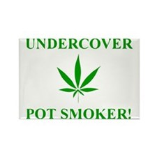 Undercover Pot Smoker Rectangle Magnet