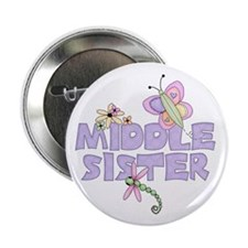"""Cute Bugs Middle Sister 2.25"""" Button (10 pack)"""