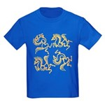 Golden Horses Batik Kids Dark T-Shirt