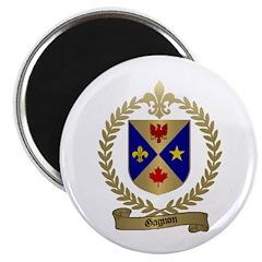 """GAGNON Family Crest 2.25"""" Magnet (100 pack)"""