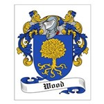 Wood Family Crest Small Poster