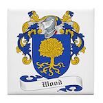 Wood Family Crest Tile Coaster