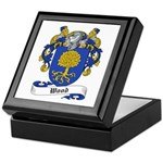 Wood Family Crest Keepsake Box