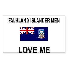 Falkland Islander Men Love Me Rectangle Decal