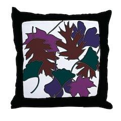 Jewel Leaves Throw Pillow