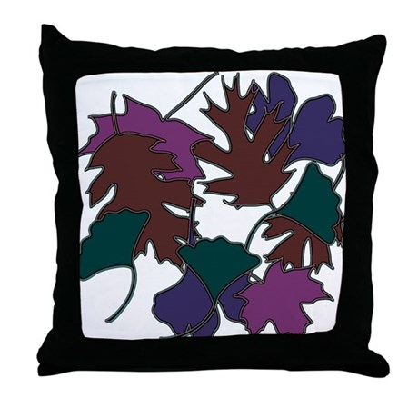 Jewel Leaves Throw Pillow