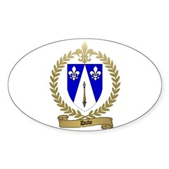 DUBE Family Crest Oval Decal